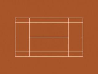 Tennis Court Clay Layout