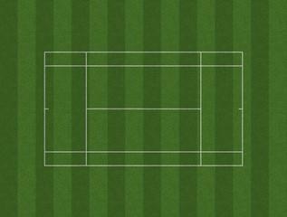 Tennis Court Lawn Layout