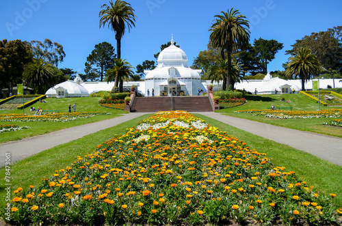 Foto op Plexiglas San Francisco The Conservatory of Flowers, Golden Gate Park, San Francisco