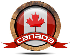 Canada Flag - Wooden Icon