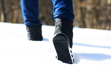 Sport shoes in snow