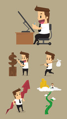 Set,Businessman Character