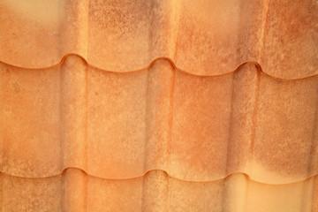 New grained brown metal roof