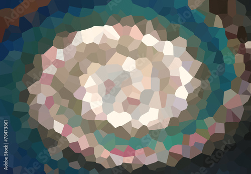 Fototapeta Colorful Twist low poly wave Abstract art