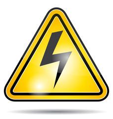Electricity power danger symbol.