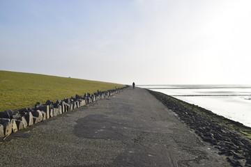 Deich an der Nordseeküste