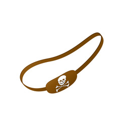 Brown eye patch with skull symbol