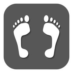 The footprint icon. foot symbol. Flat