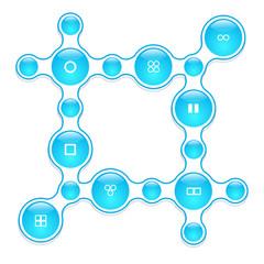 geometric infographic elements-illustration