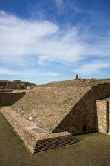 Monte Alban Oaxaca Mexico ancient ball game stadium one grandsta