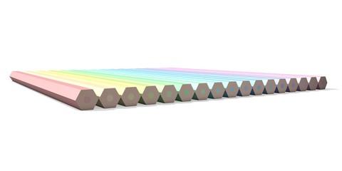 Kleur potloden pastel tinten