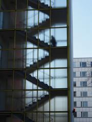 Unbekannter im Treppenhaus/Hochhaus
