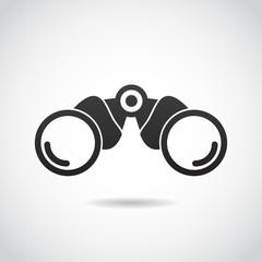 Binoculars vector icon.