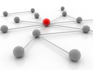 Abstract conception of network and communication 3d