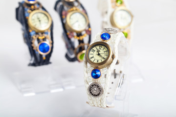 woman watches - fashion background