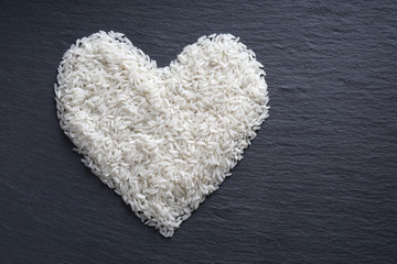 rice in heart shape