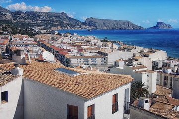 Aerial view of Altea, Costa Blanca