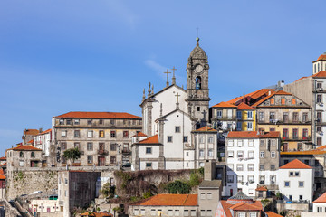 Skyline of the old part of the city of Porto, Portugal