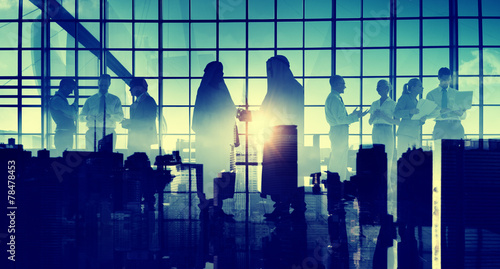 canvas print picture Business Handshake Partnership Agreement Middle Eastern Concept
