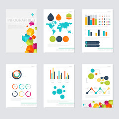 Set of infographics elements in modern flat business style.