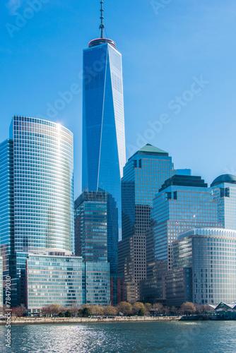 Leinwanddruck Bild Panorama of downtown Manhattan