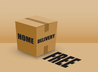 free home delivery card board box