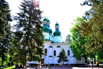 A church of Holy Trinity Monastery Kitaevo in Kiev Ukraine