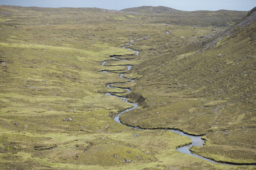 River meander, Highlands, Scotland