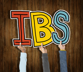 Group Hands Holding IBS Letter Concept