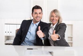 Erfolgreiches Business Team im Büro