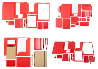 Set of corporate identity templates on white.