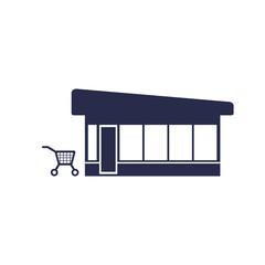 trolley near the shop