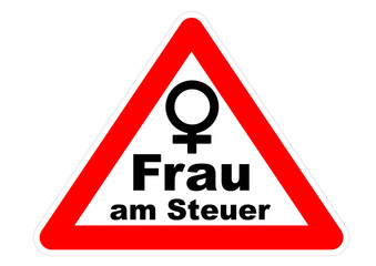 Autoaufkleber / Frau am Steuer