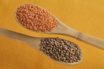 lenticchie classiche ed arancioni decorriate bio
