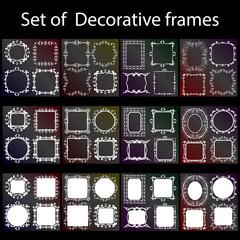 Decorative frame - vector set. Vector illustration