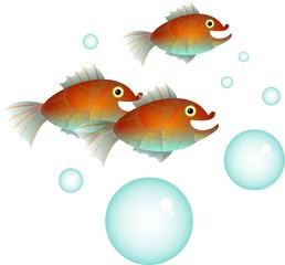 Cartoon Fish Shoal