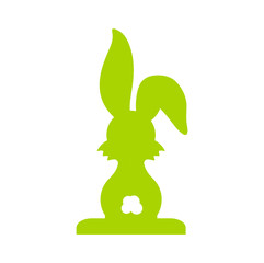green easter rabbit isolated