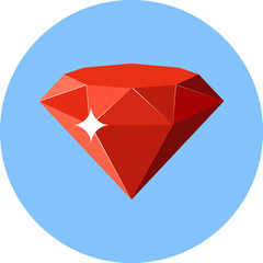 Vector Ruby Flat Illustration