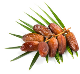 Bunch of date fruits