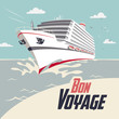 Cruise ship Bon Voyage illustration - 78484227