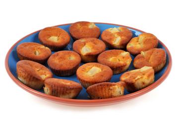 Assiette de cakes à la poire