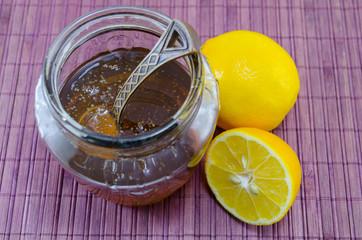 Lemon and honey in a jar