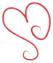 Red Heart Doodle Clip Art