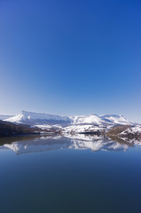 Sierra Salvada with lake reflections