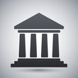 Vector bank building icon - 78485253