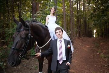 Newlyweds on Wedding Day