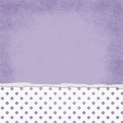 Square Purple and White Polka Dot Torn Grunge Textured Backgroun