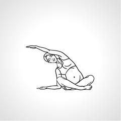 Yoga for pregnant woman. Vector illustration.