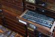 Metal printing press letters - 78485811
