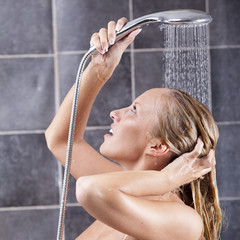 young sexy woman having a shower